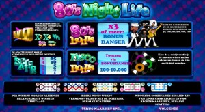 Online slotmachine 80's night life