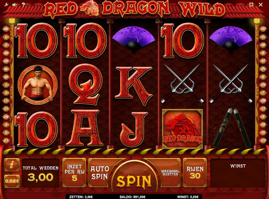 online slotmachine red dragon wild